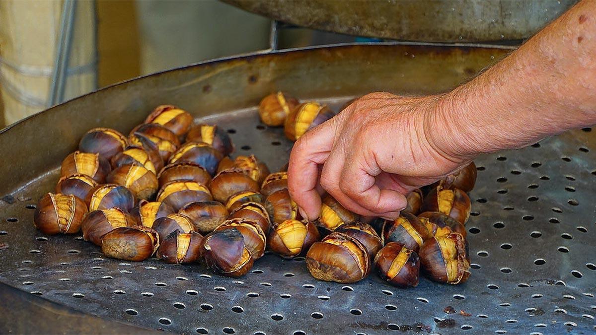 Comer castañas asadas en Córdoba