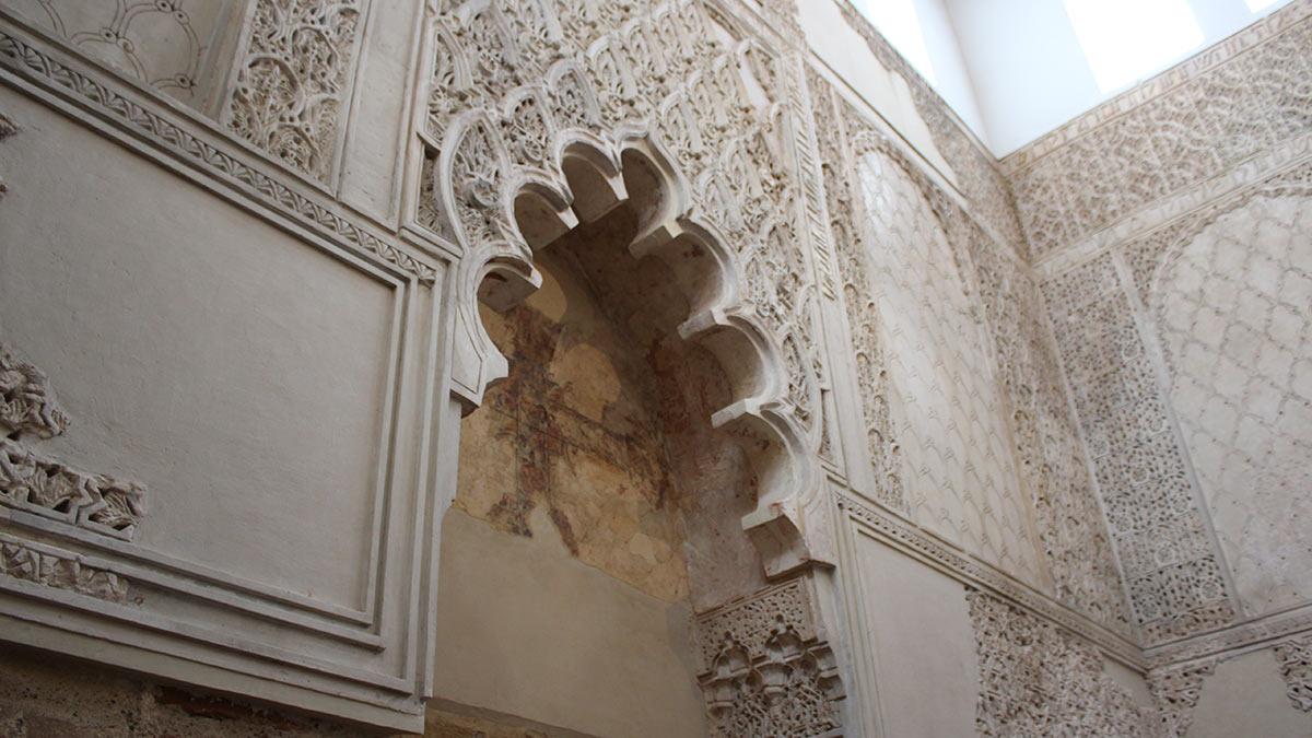 Partes restauradas de la Sinagoga de Córdona
