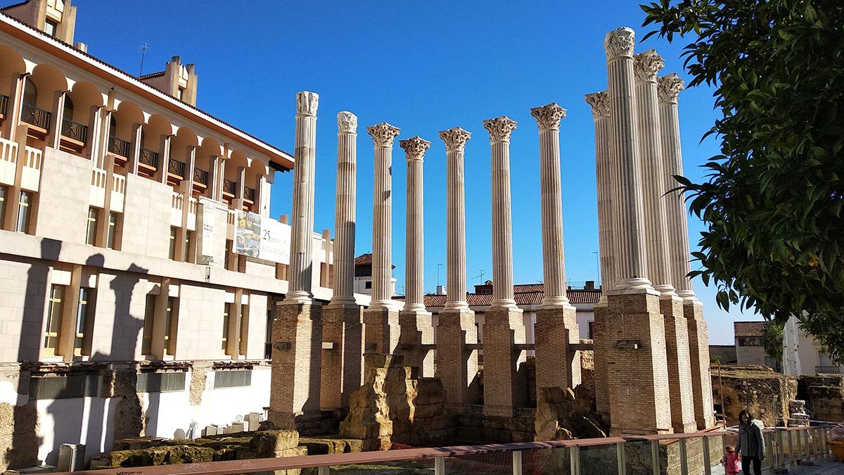 Columnas del Templo Romano en Córdoba