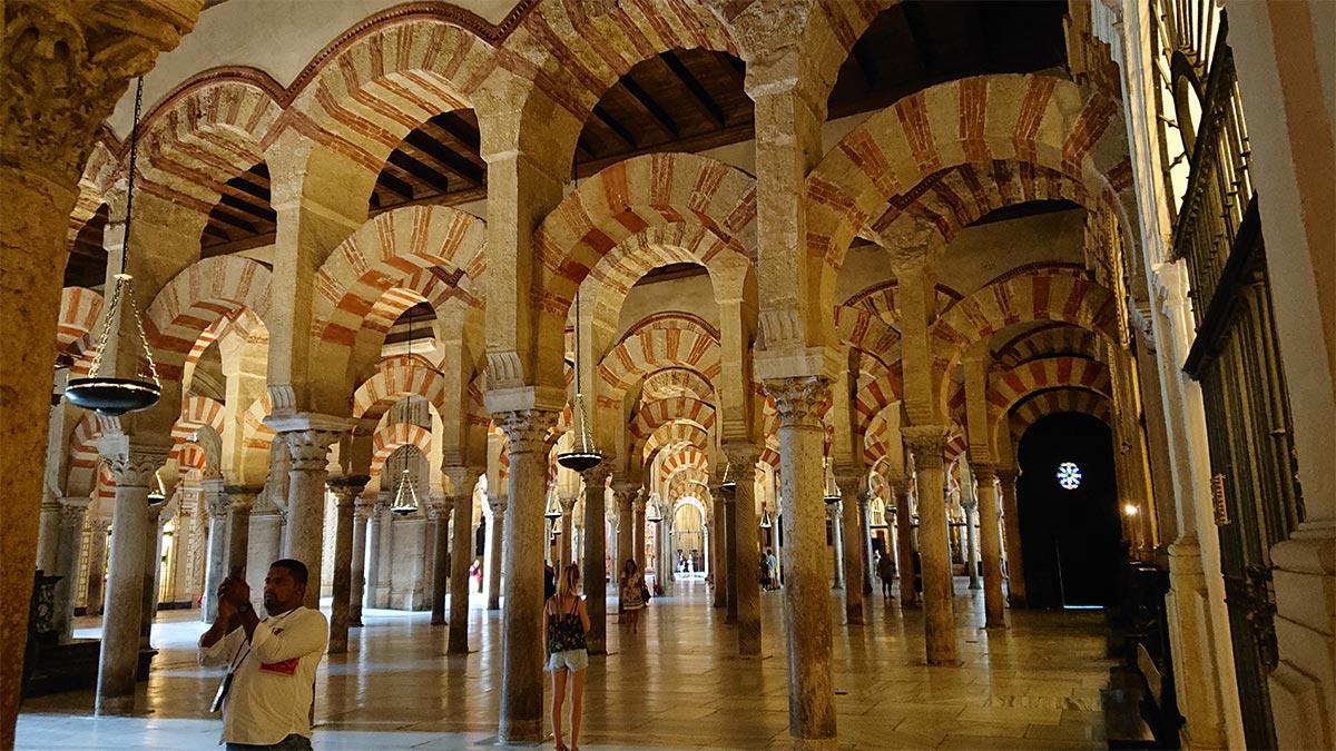 Bosque de columnas de la Mezquita