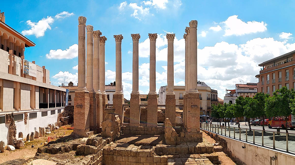 Vista del Templo Romano
