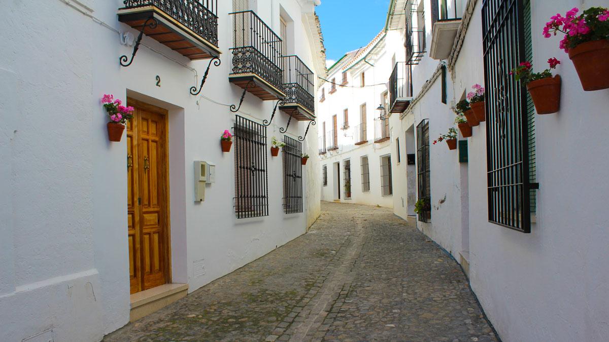Calle del Barrio de la Villa en Priego de Córdoba