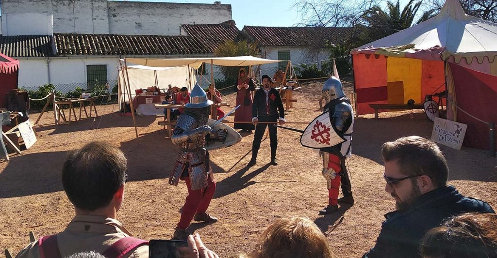 Demostración de lucha medieval