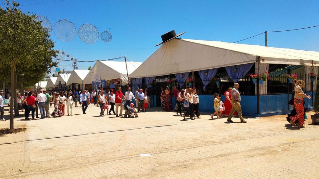 casetas en la Feria de Córdoba