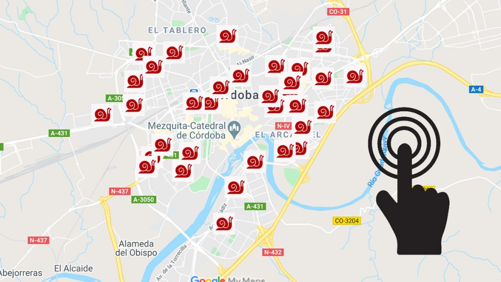 Mapa de los puestos de caracoles