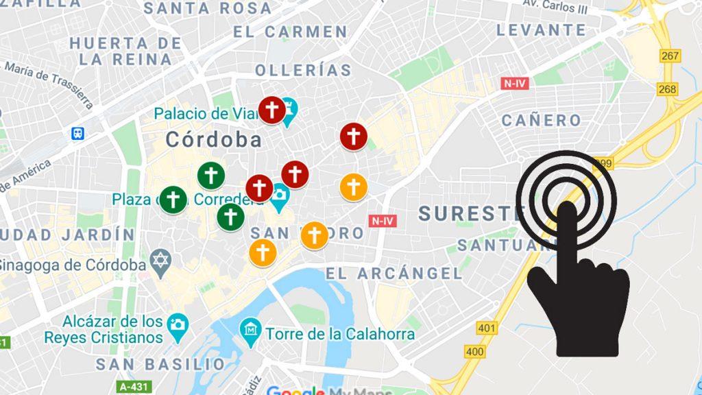 Mapa de las iglesias fernandinas