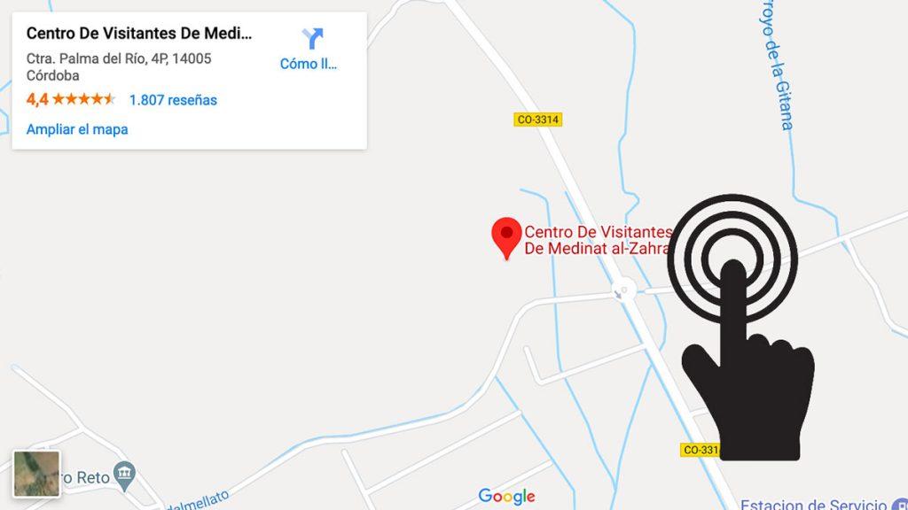 Mapa para llegar a Medina Azahara
