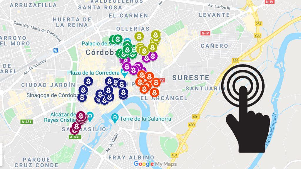 Mapa interactivo de los patios de Córdoba