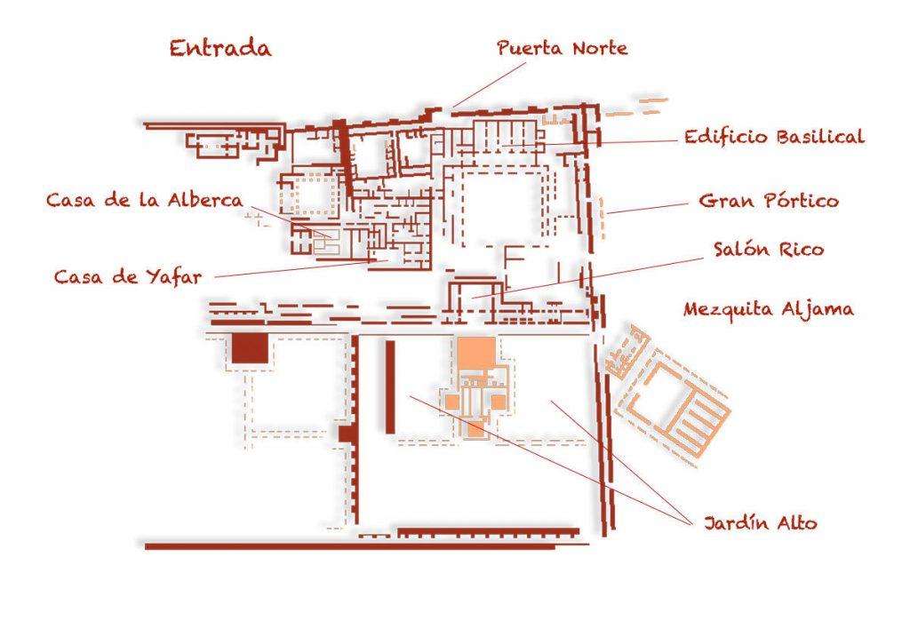 Plano de Medina Azahara
